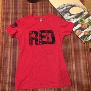 """RED"" remember everyone deployed"" t-shirt"